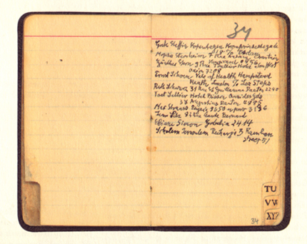 Walter Benjamin's Paris address book