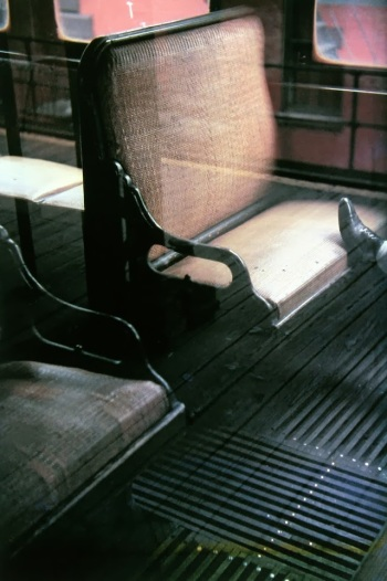 Saul Leiter, 'Foot on El' (1954)