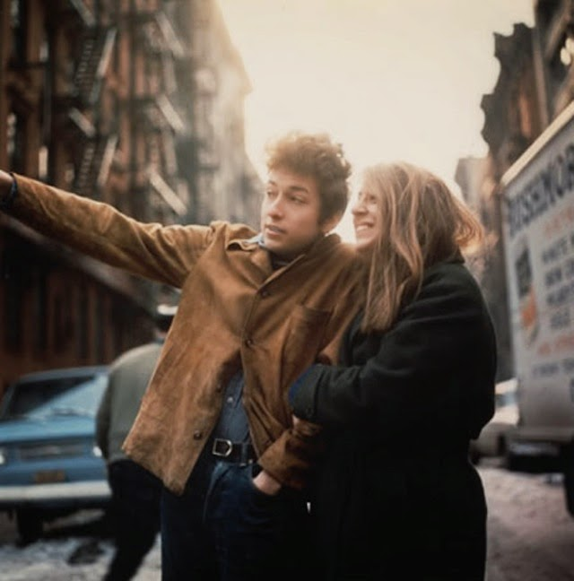 Bob Dylan and Suzie Rotolo in West Village, New York City, February 1963. Photograph: Don Hunstein.