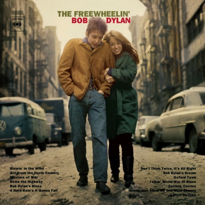 The original artwork for The Freewheelin' Bob Dylan (1963)