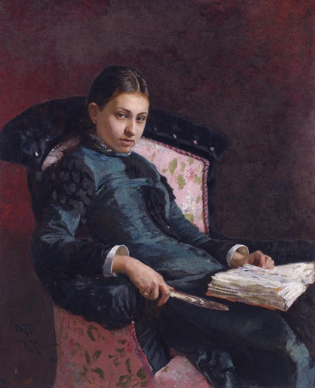 Ilya Repin, Portrait of Vera Repin, the Artist's Wife(1878)
