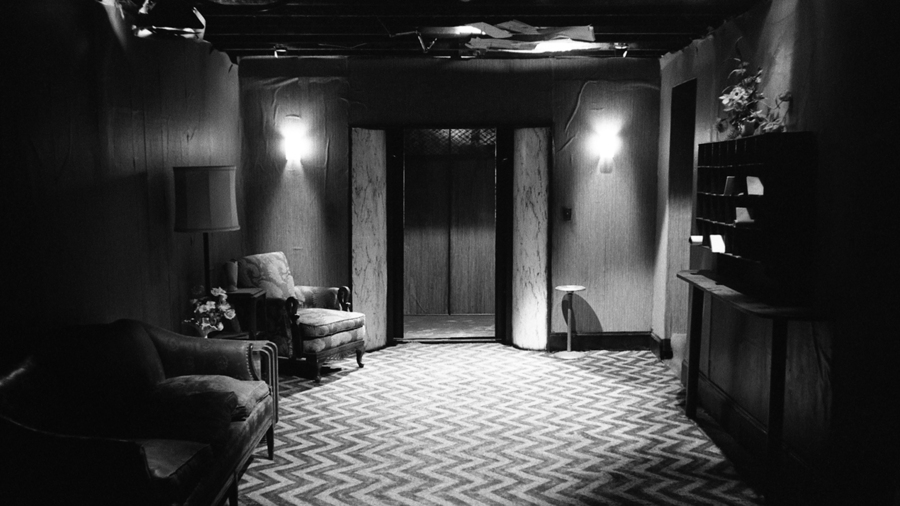 On the set of David Lynch's Eraserhead. Photograph: Catherine Coulson.