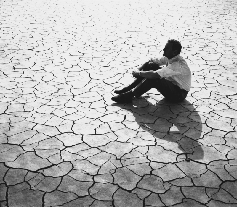 David Lean on location for Lawrence of Arabia (1962)