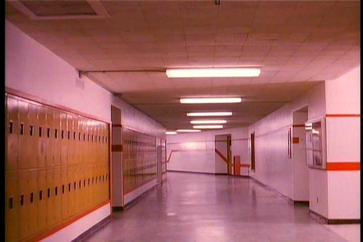 The empty high school corridors of David Lynch and Mark Frost's Twin Peaks