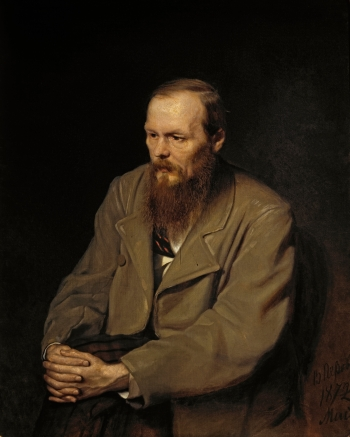 Portrait of Fyodor Dostoyevsky by Vasily Perov (1872).