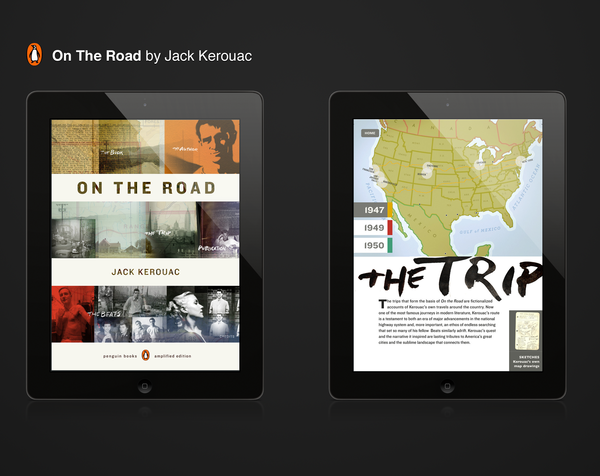 Penguin's iPad app for Jack Kerouac's On the Road