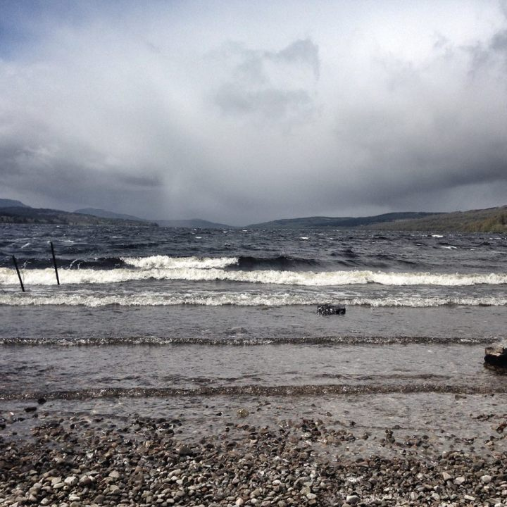 Surprised to observe the strong tides of a Scottish loch
