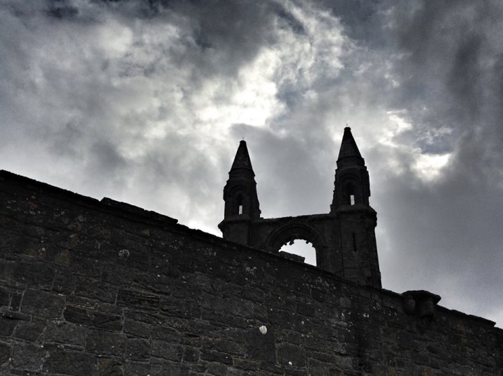 The ruins at St Andrews, Scotland.