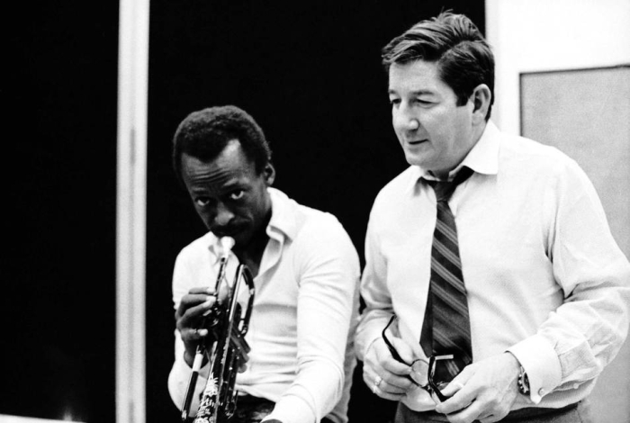 Miles Davis with producer Teo Macero