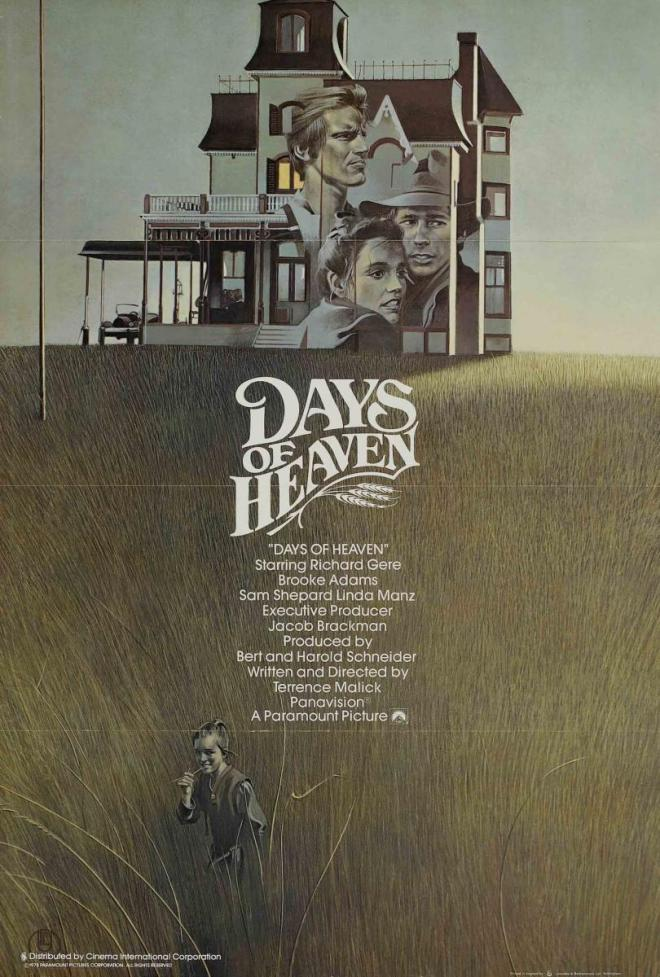 Promotional poster for Days of Heaven (dir. Terrence Malick, 1978)