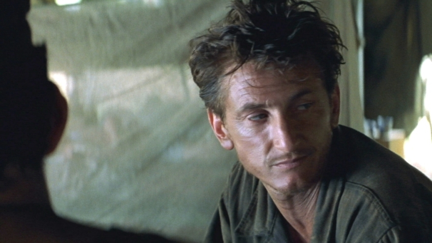 Sean Penn as Welsh in Terrence Malick's The Thin Red Line (1999)