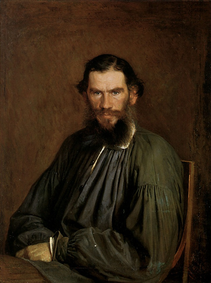 Portrait of Leo Tolstoy by Ivan Kramskoy, 1873.