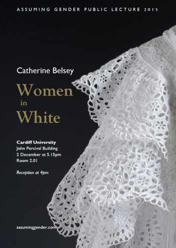 Catherine Belsey, 'Women in White'. Poster Design: Rhys Tranter