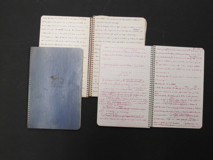 Notebooks kept by Maurice Blanchot.