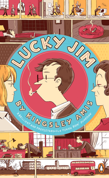 Kingsley Amis, Lucky Jim (Design: Luke Pearson)