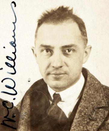 William Carlos Williams (passport photograph, 1921)