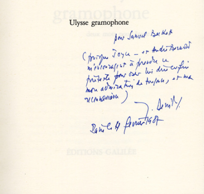 samuel-beckett-digital-library-jacques-derrida-signature-dedication-joyce-ulysse-gramophone
