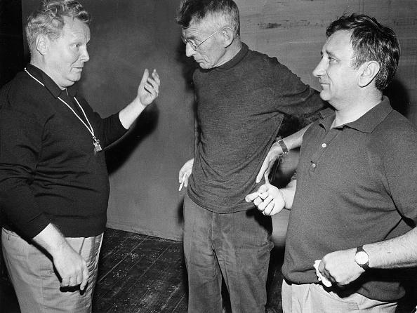 Beckett, Samuel - Schriftsteller, Irland/ Probe mit E. Schroeder (l.) u. H. Bollmann (r.)
