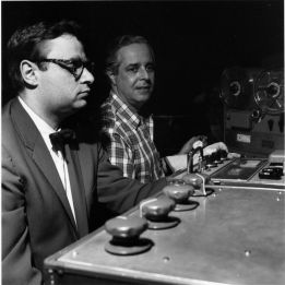 Rudy Van Gelder with Blue Note Records producer Alfred Lion.