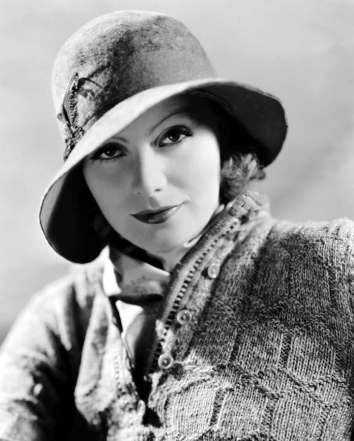 Greta Garbo wearing a slouch hat in the 1930s.