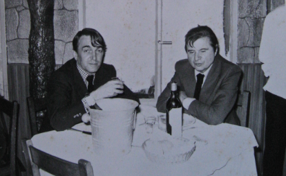 Denis Wirth-Miller with Francis Bacon. Image: Jon Lys Turner.