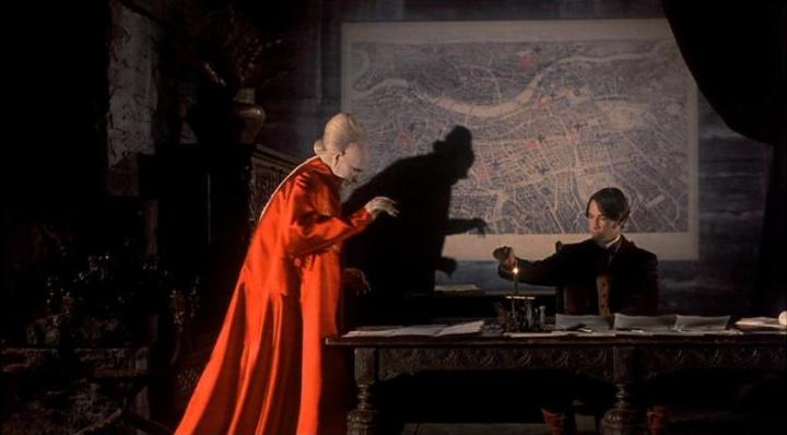 Gary Oldman (Dracula) and Keanu Reeves (Jonathan Harker) in Francis Ford Coppola's 1992 adaptation of Bram Stoker's Dracula