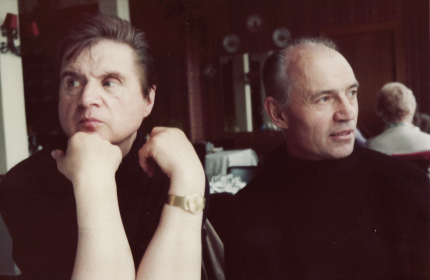 Francis Bacon and Richard Chopping. Image: Jon Lys Turner.