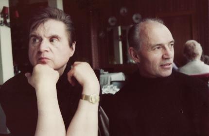 Francis Bacon and Richard Chopping. Image: Jon Lys Turner.