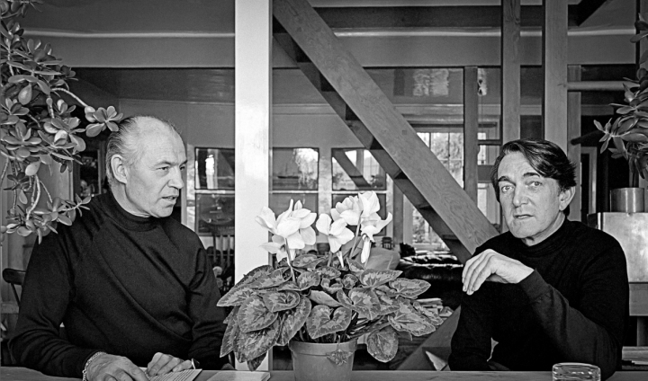 Richard Chopping and Denis Wirth-Miller. Photograph: Edward Morgan.