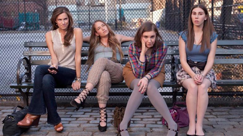 Alison Williams, Jemima Kirke, Lena Dunham and Zosia Mamet in HBO's Girls