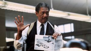 Morgan Freeman as Detective Somerset in Seven (dir. David Fincher, 1995)