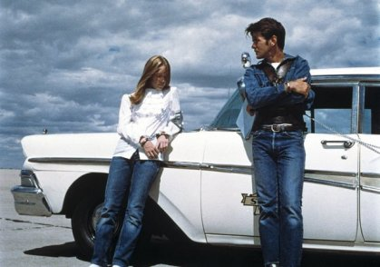 Sissy Spacek and Martin Sheen in Terrence Malick's debut feature, Badlands (1973)