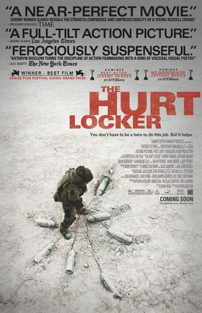 Promotional poster for The Hurt Locker (dir. Kathryn Bigelow, 2008).