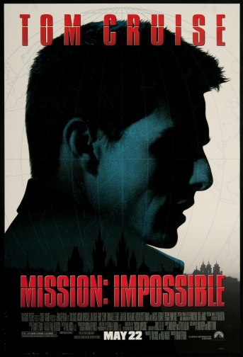 Promotional poster for Brian De Palma's Mission: Impossible (1996)