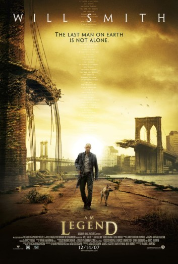 Promotional poster for I Am Legend (dir. Francis Lawrence, 2007)