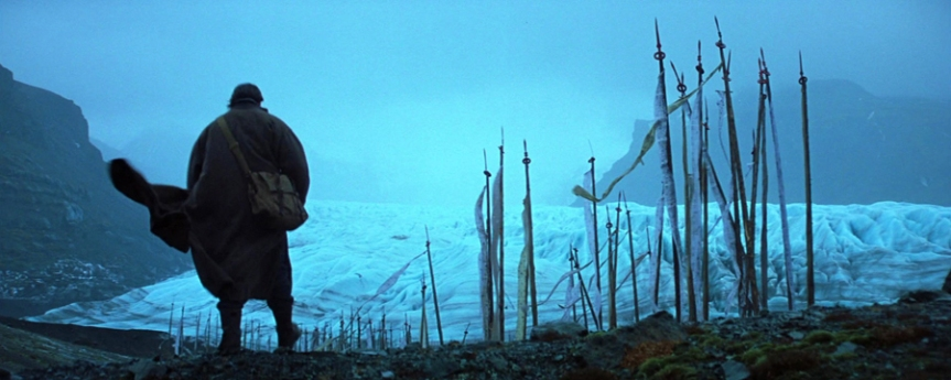 Christian Bale as Bruce Wayne in Batman Begins (dir. Christopher Nolan, 2005)