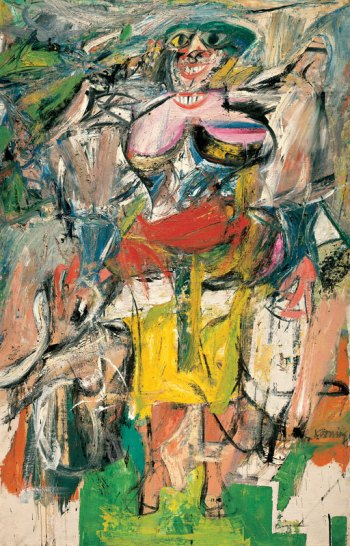 Willem de Kooning, Woman and Bicycle (1952-3)