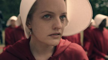 Elisabeth Moss in the Hulu adaptation of Margaret Atwood's The Handmaid's Tale