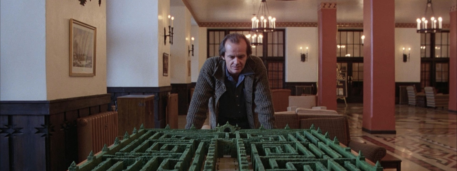 Jack Nicholson as Jack Torrance in The Shining (dir. Stanley Kubrick, 1980).