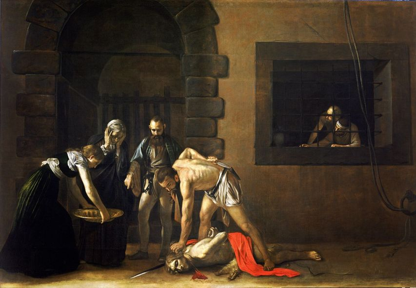 Caravaggio, The Beheading of Saint John the Baptist (1608)