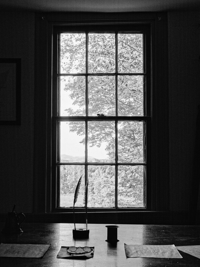 Herman Melville's desk at Arrowhead. Photograph: Ornan Rotem.