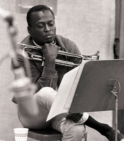 Miles Davis during the recording sessions for Kind of Blue, 1959.