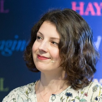 Emily Blewitt at the Hay Festival